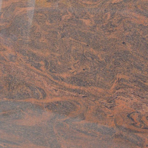 Red multicolor granite product