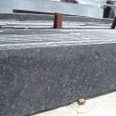 Steel grey granite cutter slab