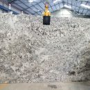 Alaska white granite gangsaw slabs