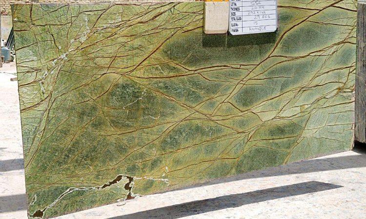 Rainforest Green Gangsaw Slab