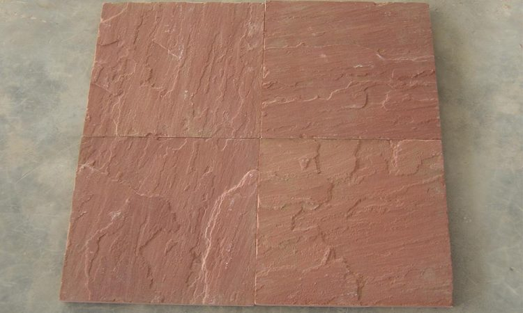 Agra red sandstone natural cleft