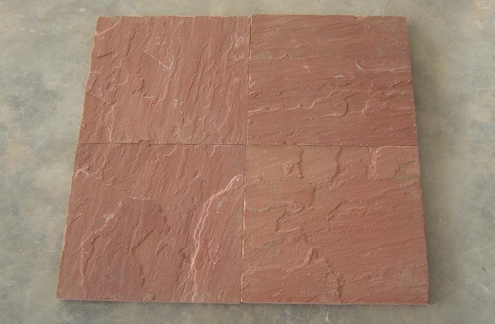Agra red sandstone natural cleft