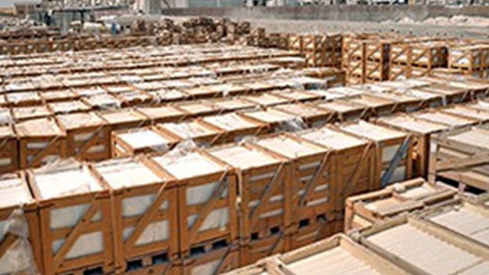 Safer natural stone packing