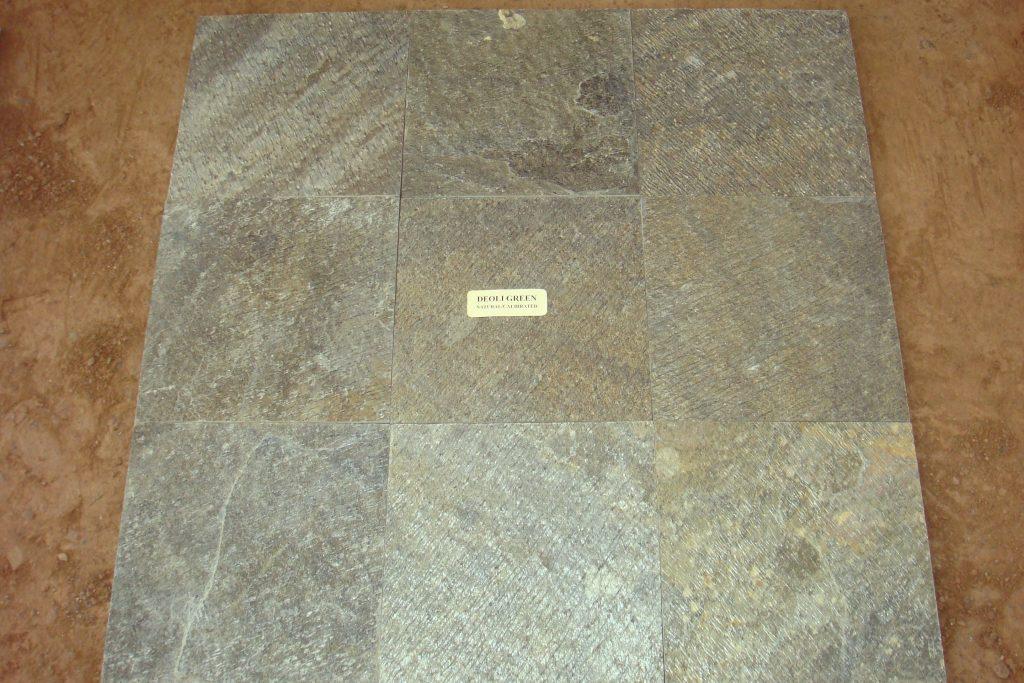 Natural cleft D Green tiles