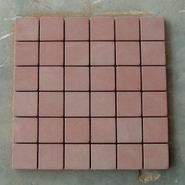 Agra Red honed 48x48mm