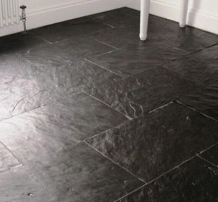 Slate Flooring Is Made Impressive With