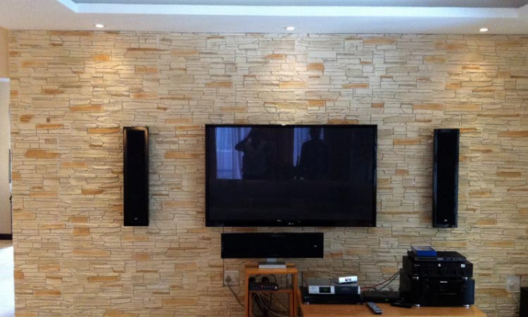 Wall Decoration With Efficient Use Of Thin Stone Veneer And Cladding