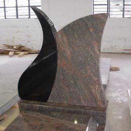 Polished granite monument