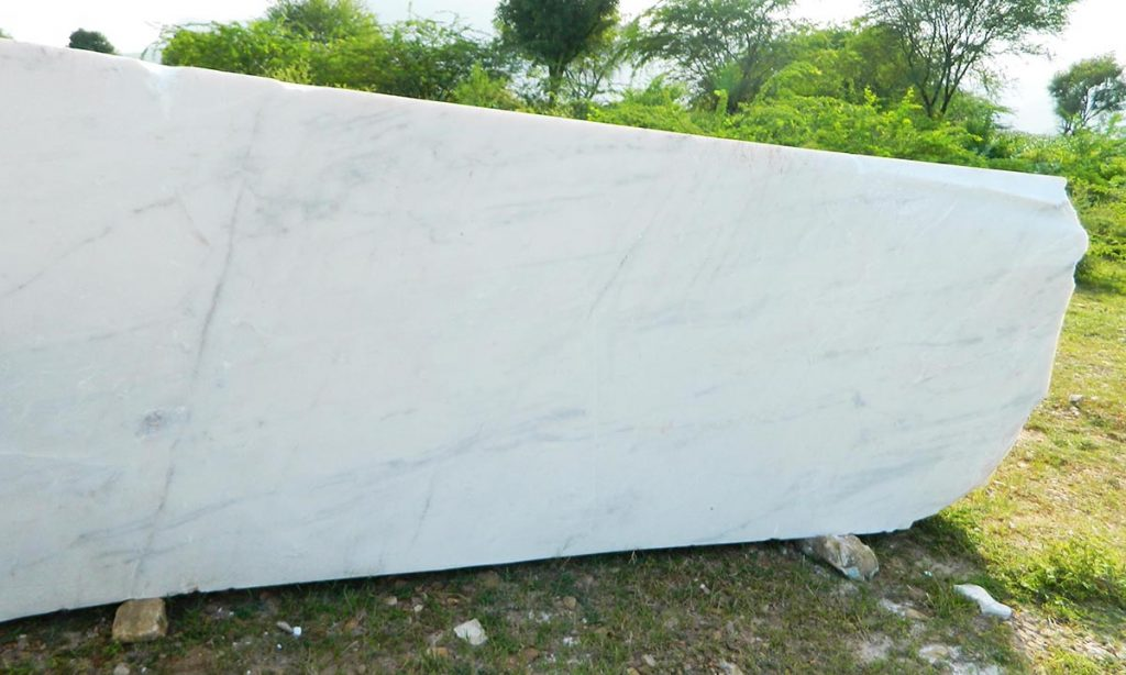 White marble cutter slab product