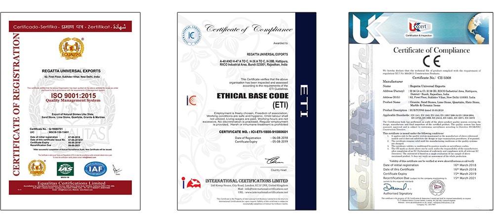 ETI & ISO certificate