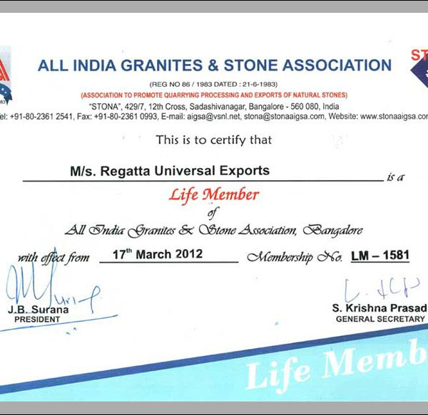 AIGS Certificate