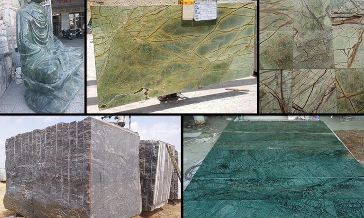 Green marble products