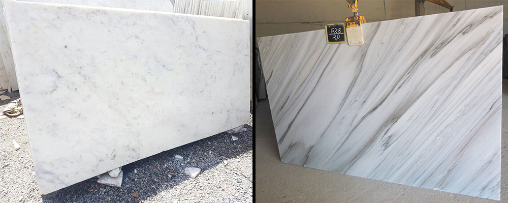 White marble and bruno white marble