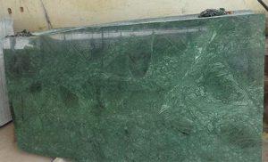 Green marble cutter slab