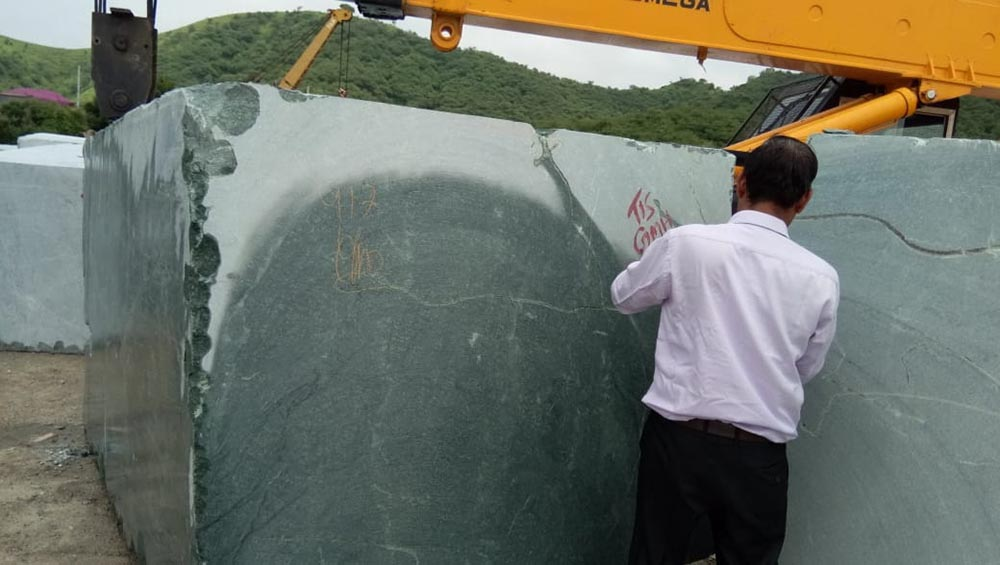 Green marble processing
