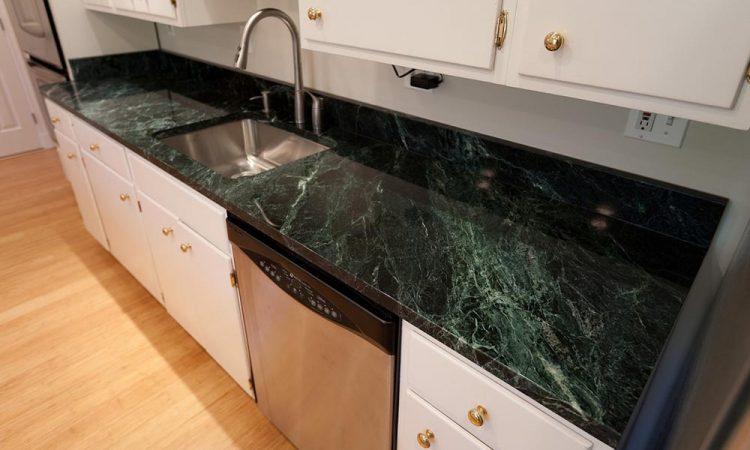 Green Marble Kitchen Countertop