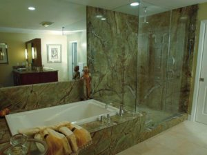 rainforest green marble vanity