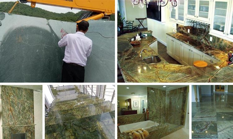 Rainforest green marble product