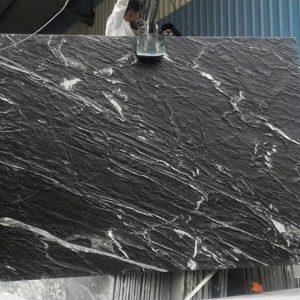 Black marine marble in antique finish