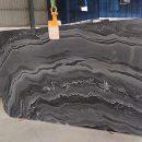 Mercury black marble gangsaw slab
