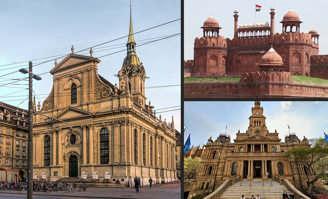 Sandstone historical structures