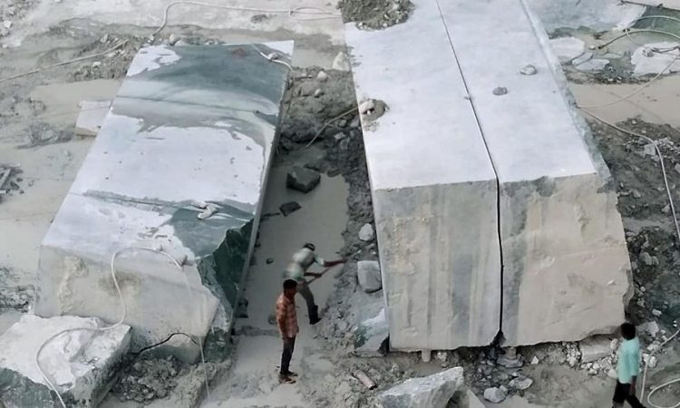 Green Marble Block