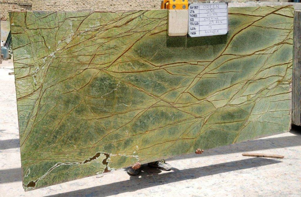 Rainforest green marble Gangsaw Slab