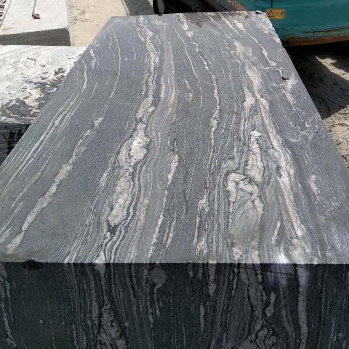 Black Granite Blocks Zebra Stripes From Granite Supplier
