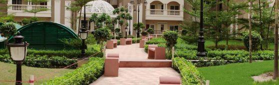 Agra Red Garden Bench