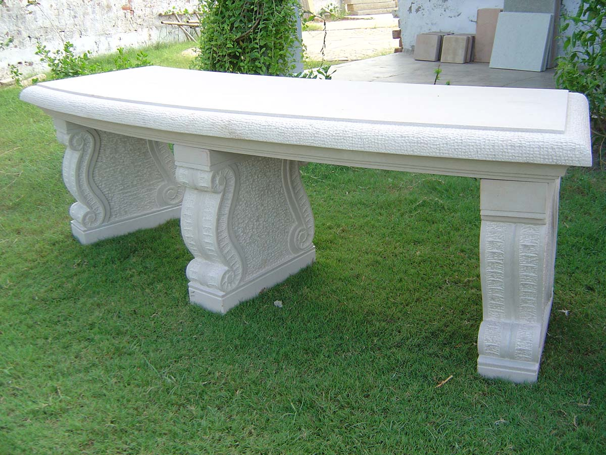 Picture of: Stone Garden Bench For Making The Most Out Of Your Green Area