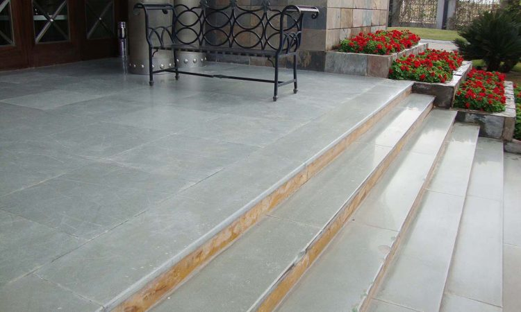 Kota-Blue-Limestone -Polished-Flooring