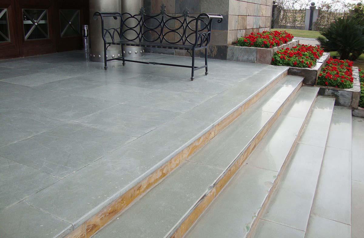 Kota-Blue-Limestone -Polished-Flooring