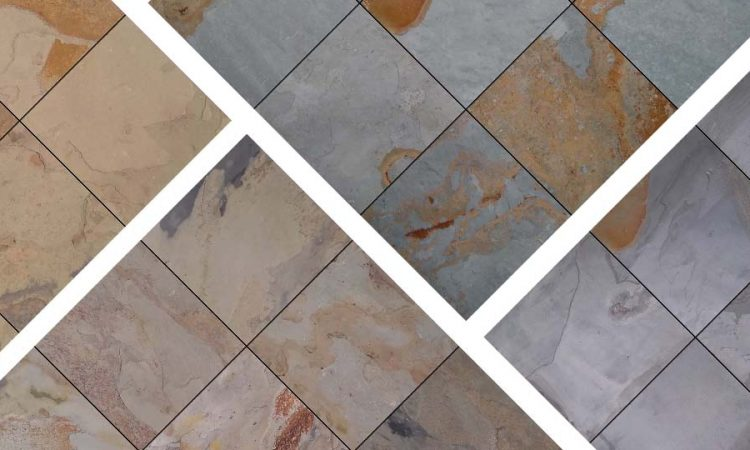 Slate floor tiles and colors