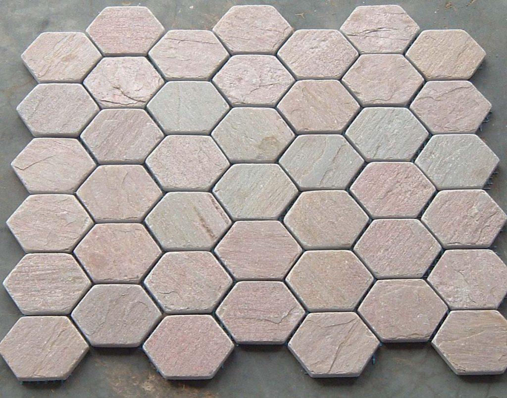 lime pink limestone octagon