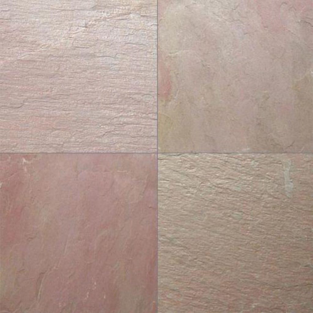 lime pink limestone tiles