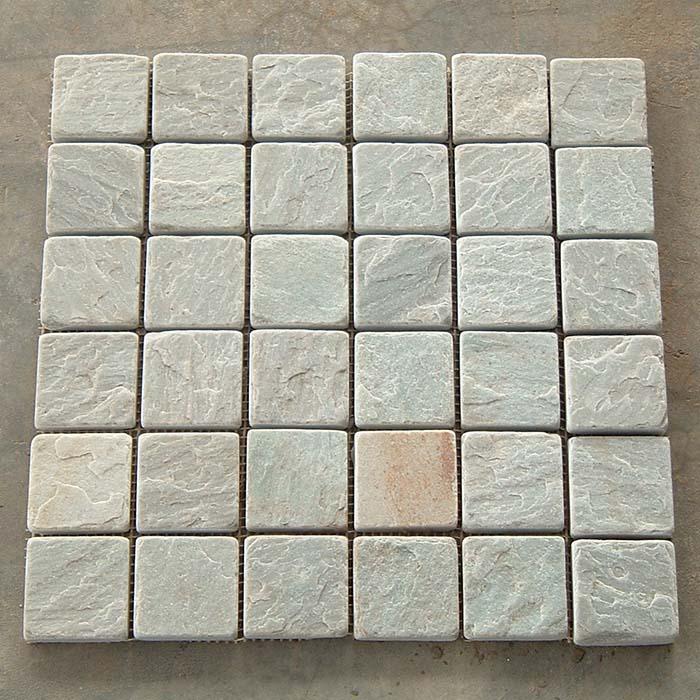 H White Quartzite Mosaic