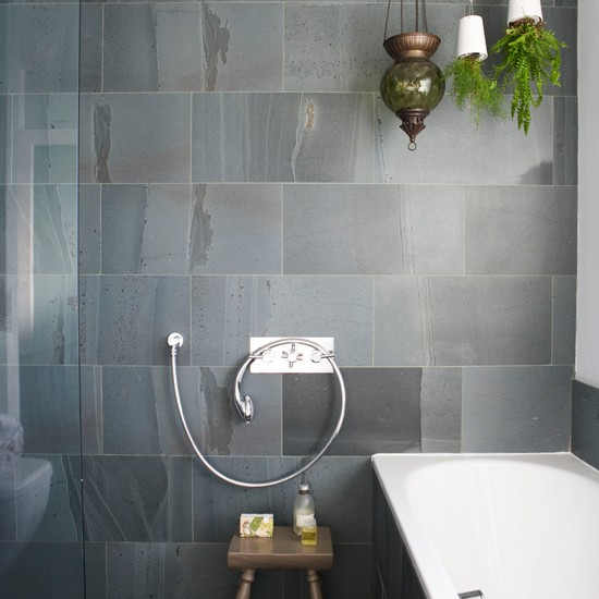 Slate bathroom wall tile