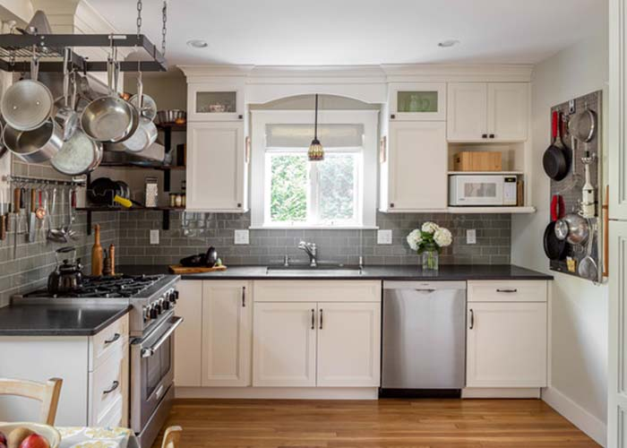 kitchen layout with L-shaped structure