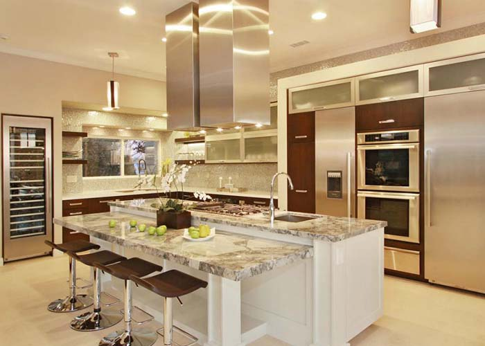 kitchen layout with islands