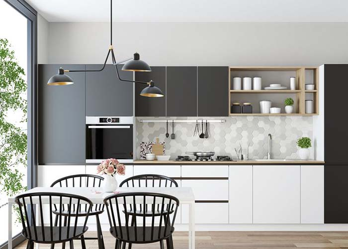 kitchen layout with one wall