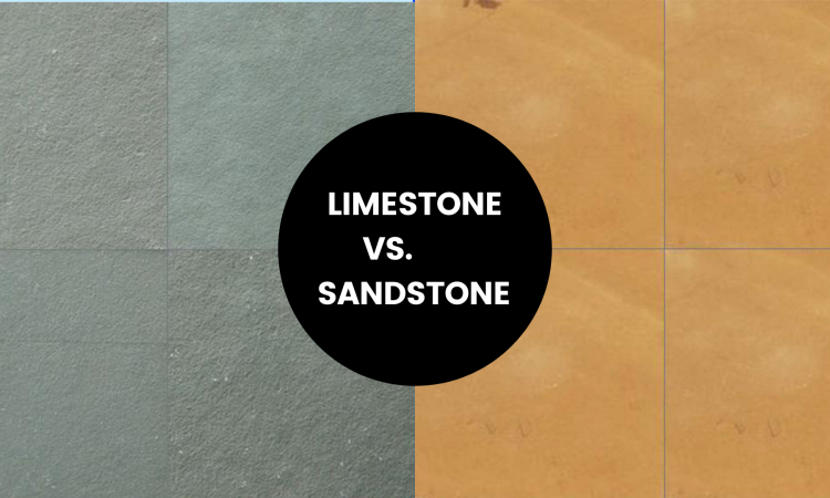 Difference between limestone and sandstone